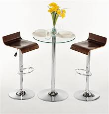 table 2 chairs. glass high top table and chairs 2