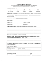 Elegant Images Of Work Incident Report Template Workplace