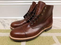 details about jcrew kenton leather cap toe boots shoes 248 burnished 8 f4446 brown
