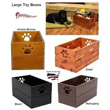 dynamic accents large wooden dog toy box showing all the finishing options pet australia