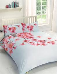 fl tree pink duck egg blue usa queen size 230cm x 220cm uk king size cotton blend duvet comforter cover set