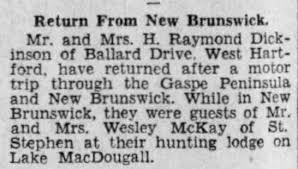 Wesley Hanson McKay of St. Stephen, NB- At McDougall Lake- 1933 -  Newspapers.com