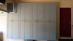 picture of making garage storage cabinets i