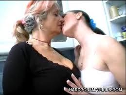 Girl lesbian mature seducing young