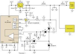 simple circuit communicates over low voltage power lines a relatively simple circuit allows users to communicate data over a low voltage power line in applications that do not have any conductors in an