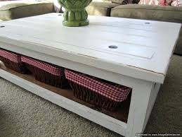 rustic white wash coffee table distressed wood paint painted furniture