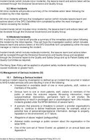 Incident Serious Incidents Reporting And Management Policy