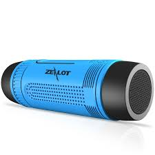portable outdoor speakers. aliexpress.com : buy zealot s1 waterproof bluetooth speaker wireless portable outdoor speakers led flashlight altavoces support fm radio tf card slot from