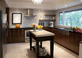 alternative to recessed lighting kitchen with modern interior and spring faucet stainless steel
