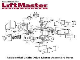 liftmaster garage door opener parts diagram for wiring