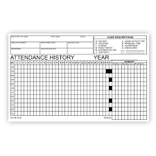 Attendence Tracker Employee Attendance Tracker Form Qty Of 50