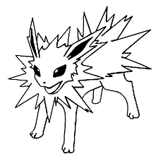 Pokemon Jolteon Coloring Pages Get Coloring Pages