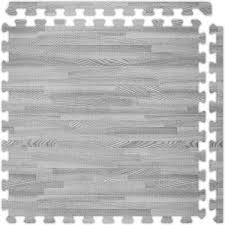 grey softwood interlocking foam floor tile