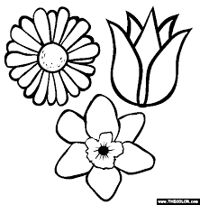 Small Picture Flowers Coloring Page Free Flowers Online Coloring