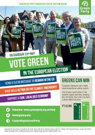 Green Party Flyer Eastern Region Green Party Its Europe Day So Watch Out