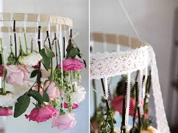 we are happy to show you 3 amazing projects of diy flower chandeliers that you might wish to try this spring