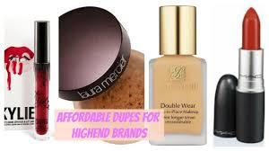 affordable makeup dupes for high end makeup brands sneha sakya
