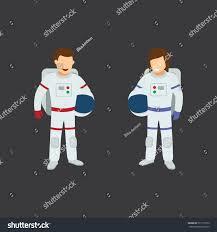 Astronaut Character Design Set Astronauts Character Design Vector Stock Vector Royalty