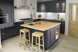 Second Nature Kitchen Doors Classic Shaker Milbourne Door In A Bold Charcoal