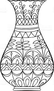 Small Picture Vase Black And White Coloring Coloring Pages