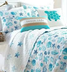 coastal quilt sets. Coastal Quilt Sets Blue Seashell Set Sea Life Cotton Cozy Comfy Bedding D