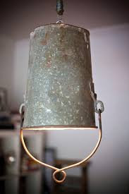 upcycled lighting ideas. Bucket-ceiling-lamp. Upcycling Upcycled Lighting Ideas