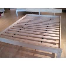 Slatted Platform Bed Wooden Slat Bed Frame Queen Modern Wood Veneer ...
