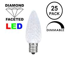 C7 Blue White Led Christmas Lights Pure White C7 Led Replacement Bulbs 25 Pack