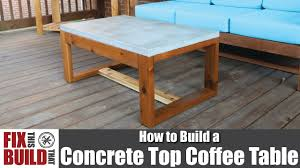 Image Pete Youtube Diy Concrete Top Outdoor Coffee Table How To Build Youtube