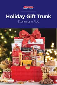 beautiful and bold our stunning in red holiday gift trunk is sure to impress this holiday season