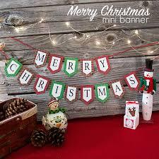 Mini Merry Christmas Banner And Holiday Printables Blog Hop