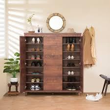 furniture shoe cabinet. Zanotti 32 Pair Shoe Cabinet Walnut Finish Furniture