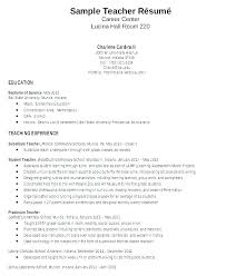 Teaching Resume Template Free Awesome Art Teacher Resume Cover Letter Examples Template Free Samples