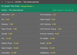 the international 2017 betting dota 2 ti7 odds predictions