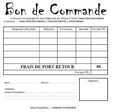 Bon De Commande A Imprimer Numerisation Transfert Copie
