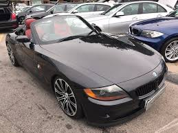 2005/55 BMW Z4 2.0i ROADSTER,2DR BLACK,RED LEATHER,19 ALLOYS ...