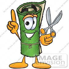 carpet installation clipart. #23244 clip art graphic of a rolled green carpet cartoon character holding pair installation clipart