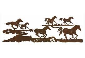 84 running wild horses metal wall art on metal horses wall art with 84 running wild horses metal wall art western wall decor