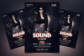 Free Party Flyer Templates Sound Show Free Party Psd Flyer Template Free Psd Flyer