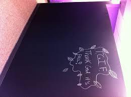 its chalkboard paint office