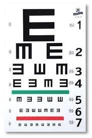 E Chart Test Graham Field 1262 Illiterate E Eye Test Chart Amazon In