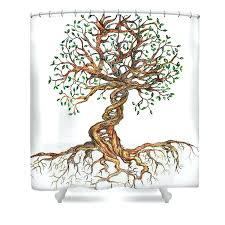 bathrooms colorful tree of life shower curtain