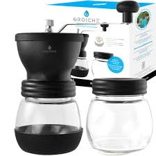How to grind coffee with a blade grinder. Bremen Manual Coffee Grinder With Coffee Storage Jar Grosche