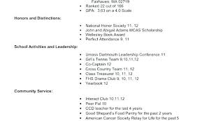 College Application Resume Samples Bad Resume Examples Example