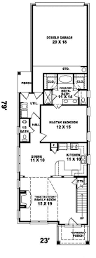 house plans for narrow plots india