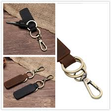 leather belt loop key holder ring keychain keyring keyfob detachable product view