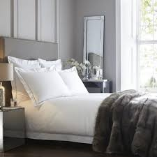 paris 400tc white and silver grey duvet cover king size