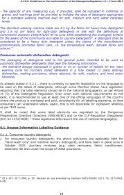 Light Duty Detergent Definition Guidelines On The Implementation Of The Detergents