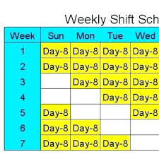8 Hour Work Day Schedule Template Shift Templates Getpicks Co