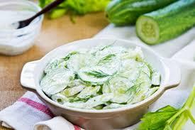 Imagini pentru salata de castraveti cu iaurt si usturoi